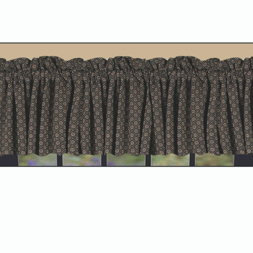 "Kingston Jacquard 72"" x 15.5"" Black - Nutmeg"