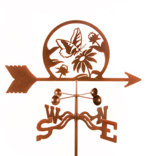 Butterfly & Flowers Weathervane