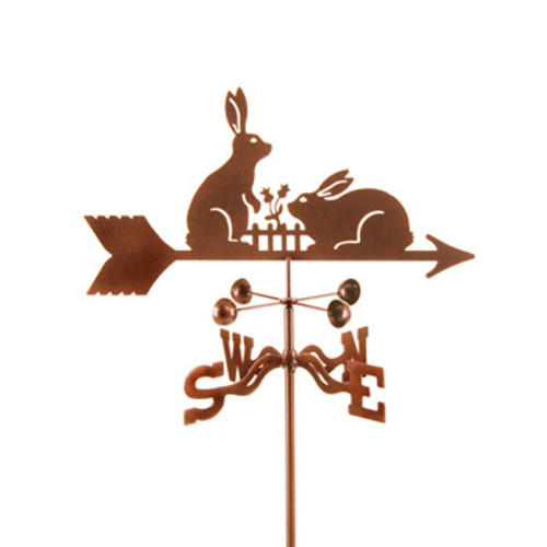 Rabbits with Fence Weathervane