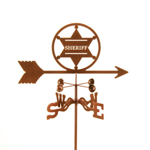 Sheriff 6 Pt Badge Weathervane