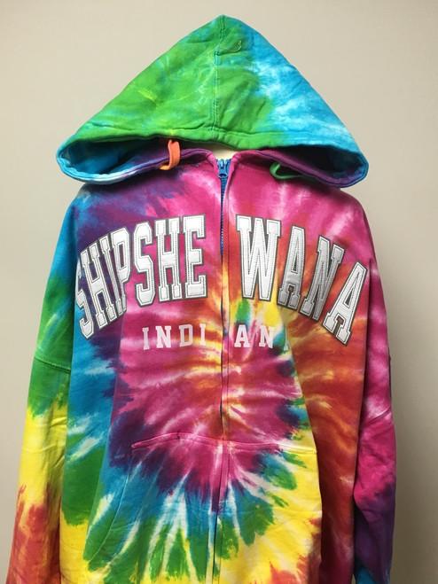 Shipshewana Patch Hoodie Tie Dye