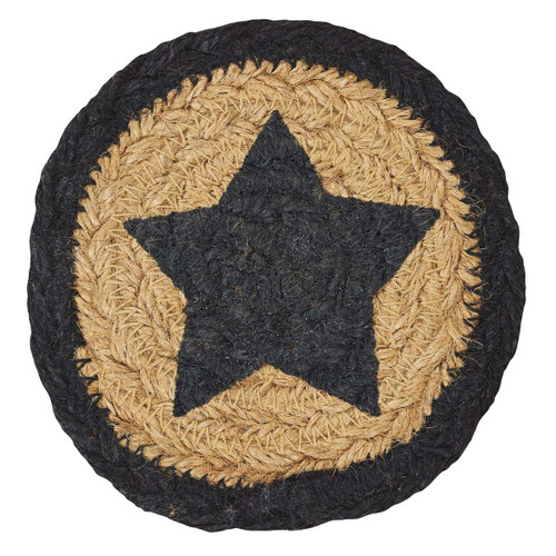 Farmhouse Jute Coaster Stencil Star Set of 6