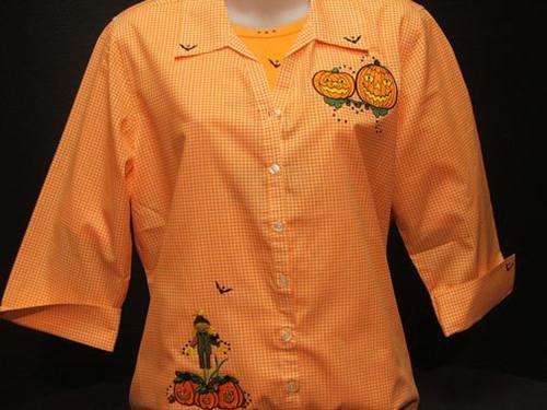 Pumpkin Trio 3/4 Sleeve Shirt