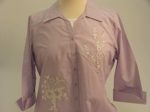 Lavender Bouquet 3/4 Sleeve Shirt