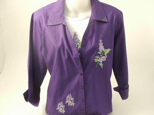 Lilac 3/4 Sleeve Shirt