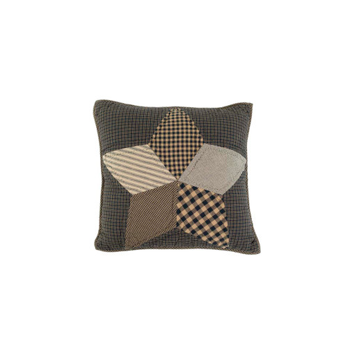 Farmhouse Star Filled Pillow Quilted 16x16