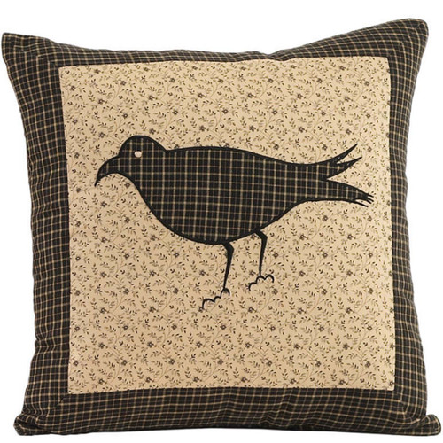 Kettle Grove Filled Pillow Crow 16x16