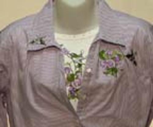 Purple Hummingbird 3/4 Sleeve Shirt