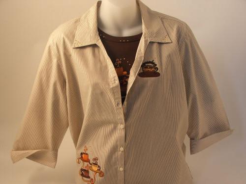 Capuccino 3/4 Sleeve Shirt