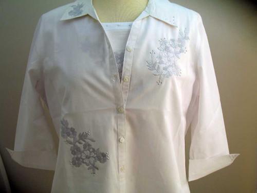 Silver Bouquet 3/4 Sleeve Shirt