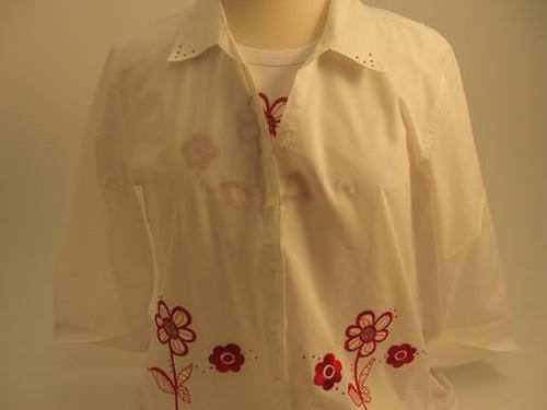 Peppermint Flower 3/4 Sleeve Shirt