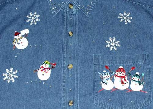 Winter Snowman L/S Shirt