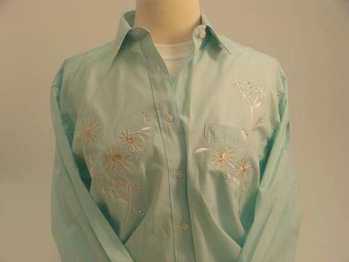 Mint Floral L/S Shirt