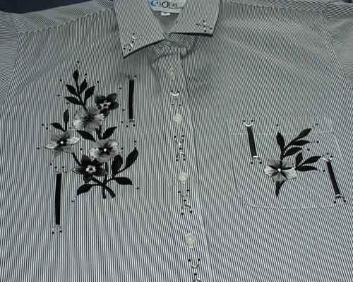 Black Floral L/S Shirt