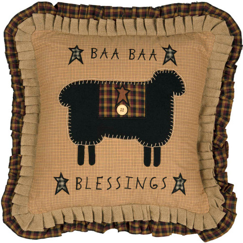Baa Baa Blessings Pillow 18x18