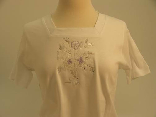 Lavender Bouquet Squareneck Top
