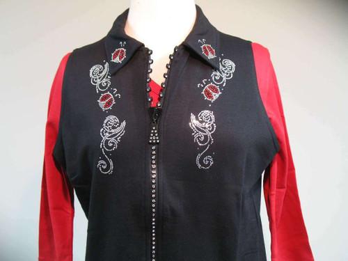 Go Ladybug Rhinestone Zipper Vest