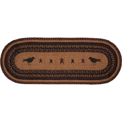 Heritage Farms Crow Jute Runner Oval 13x36