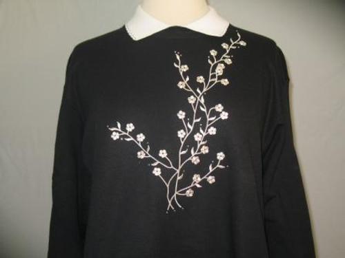 Silver Flower Sweatshirt