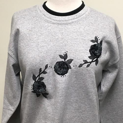 Black in Bloom Sweatshirt