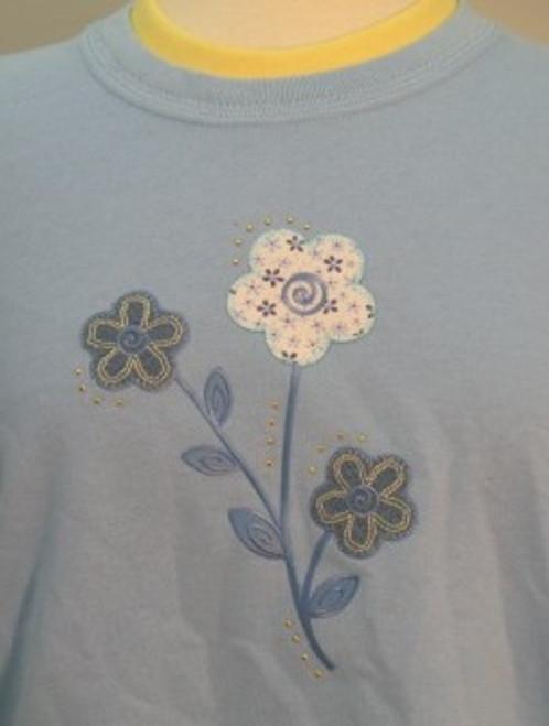 Denim Floral Sweatshirt