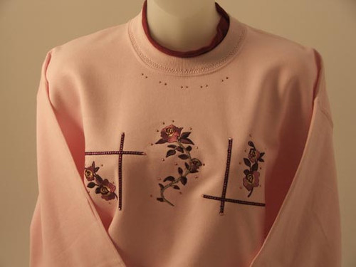 Burgundy Rose Sweatshirt