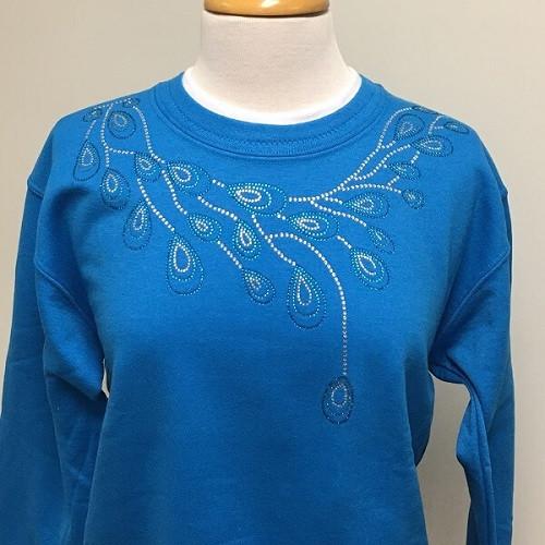 Peacock Teardrop Sweatshirt