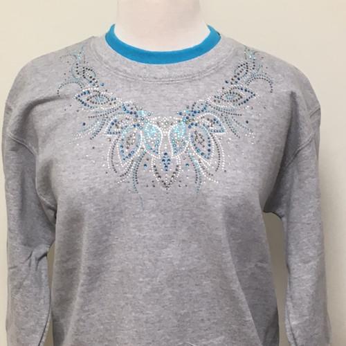 Sky Blue Effect Sweatshirt (Gray)
