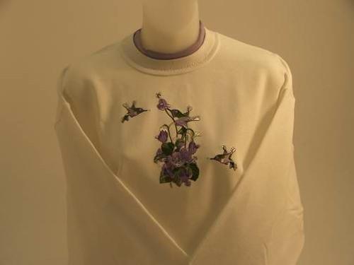 Purple Hummingbird Sweatshirt