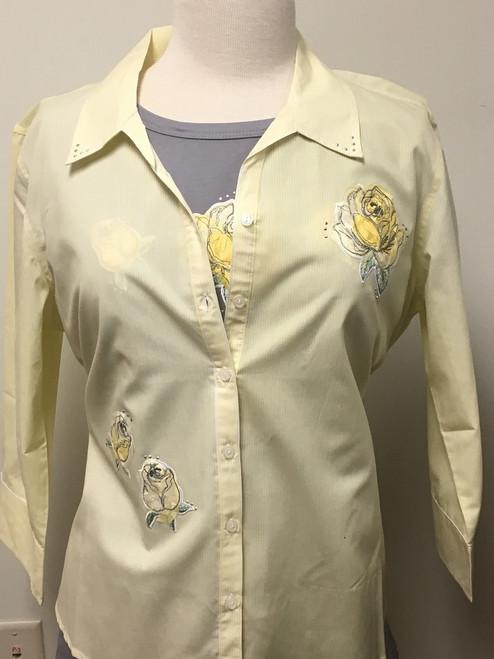 Yellow Rose 3/4 Sleeve Shirt