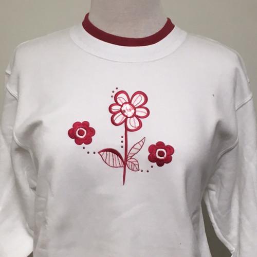 Peppermint Floral Sweatshirt