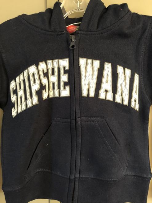 Navy Shipshe Zip Hoodie (Youth)