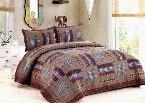 Barnwood Star King Quilt SET