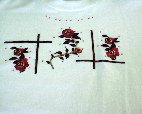 Burgundy Rose T-Shirt