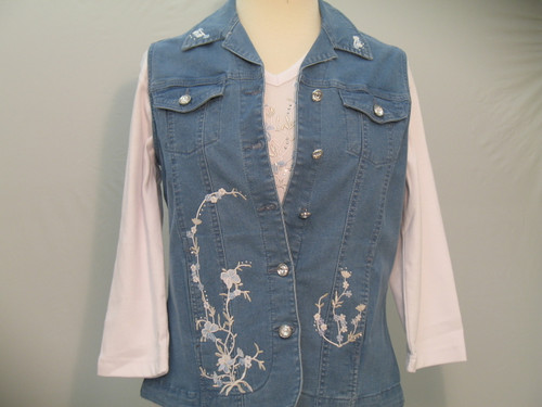 Powder Blue Floral Vest
