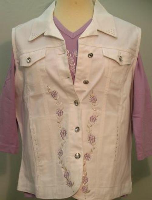 Lavender Bouquet Vest