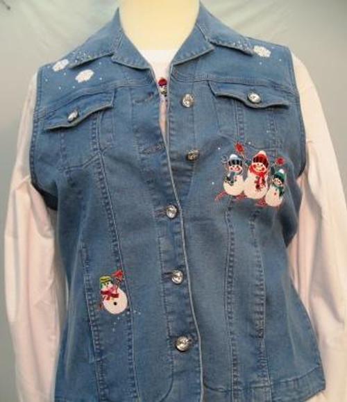 Winter Snowman Vest