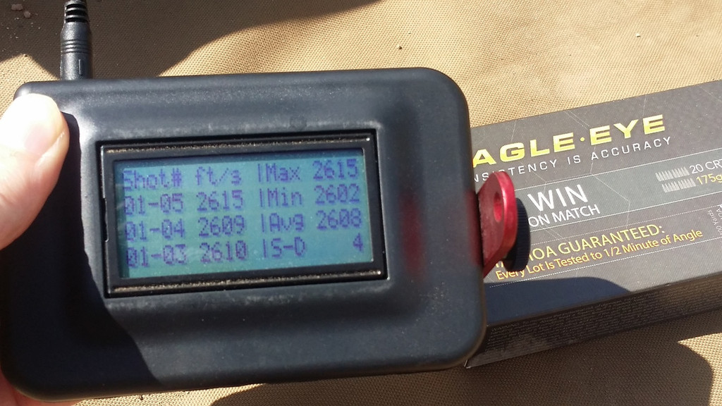 "Eagle Eye Precision 308 Win 4fps Velocity Standard Deviation Shot with 20"" TRG-22."