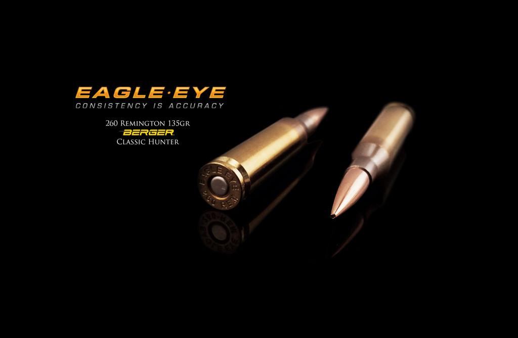 Eagle Eye 260 Rem Precision Match Hunting Ammunition - Berger 135gr Classic Hunter