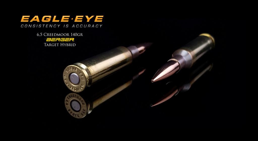 6.5 Creedmoor 140gr Berger Hybrid  Precision Match Ammunition