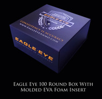 New Eagle Eye Precision Match 100 Round Box With Custom Molded EVA Foam Insert