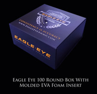 Eagle Eye Precision Match 100 Round Box with Custom EVA Molded Foam Insert