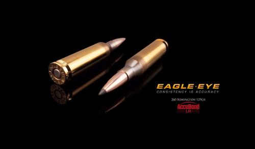 Eagle Eye 260 Rem Precision Match Hunting Ammunition - Nosler 129gr Accubond Long Range