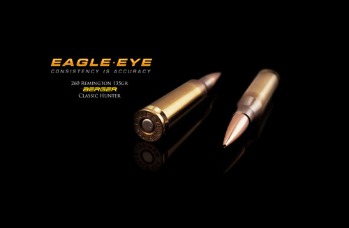 Eagle Eye 260 Rem Precision Match Hunting Ammunition - Berger 135gr Classic Hunter