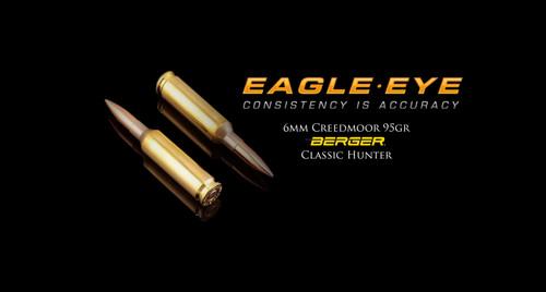 Eagle Eye 6mm Creedmoor Precision Match Hunting Ammunition - Berger 95gr Classic Hunter