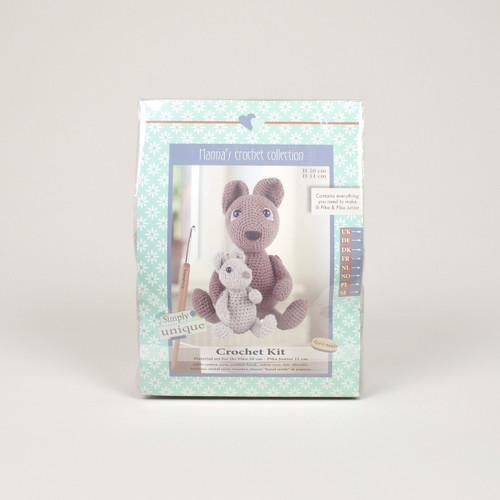 Go Handmade Ili Pika 20cm & Pika Junior 11cm Rabbits Crochet Kit
