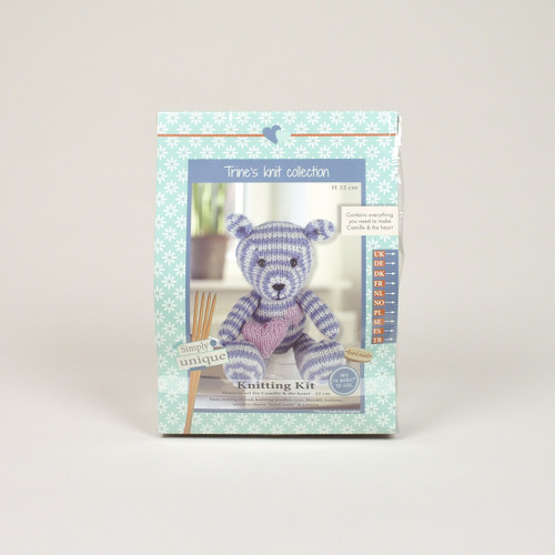 Go Handmade Camille 23cm Bear Knitting Kit