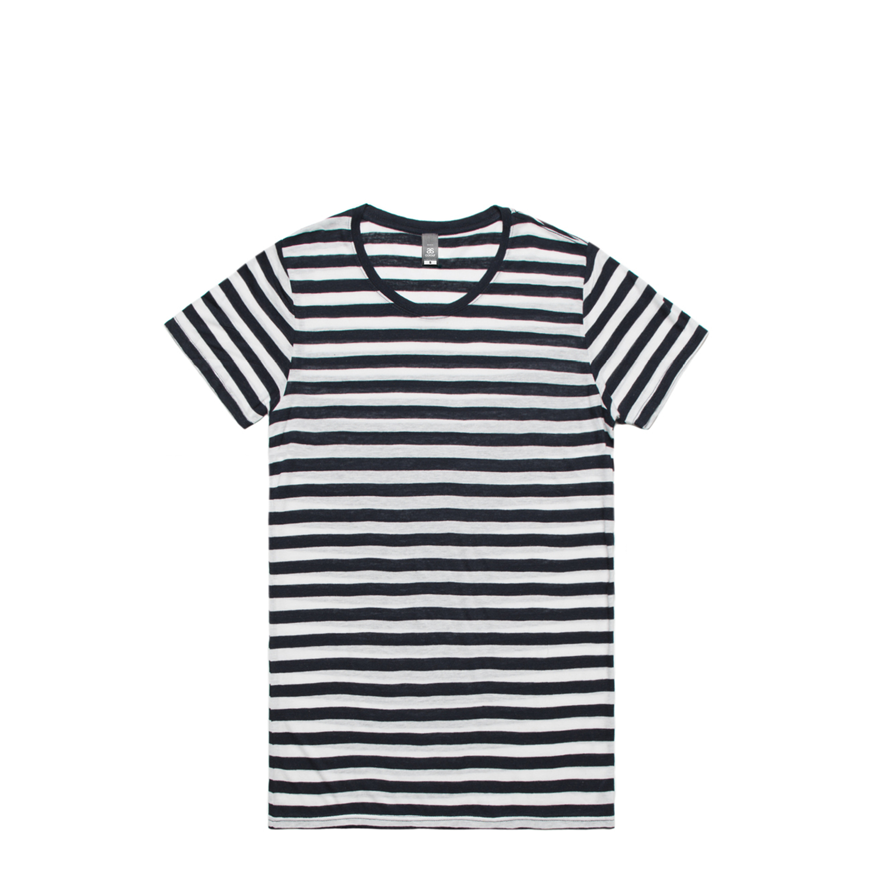 Wo's Basic Stripe Tee - 4025