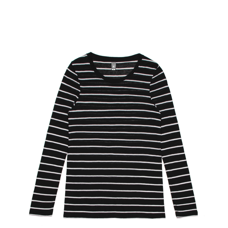 Wo's Fine Stripe L/S Tee - 4027