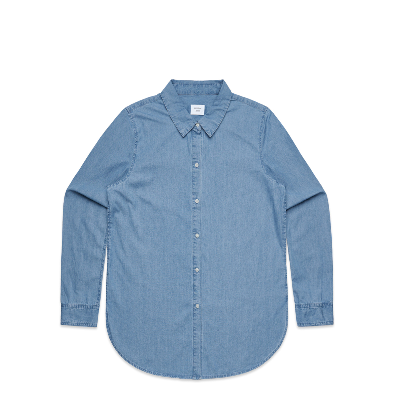 Wo's Blue Denim Shirt - 4042
